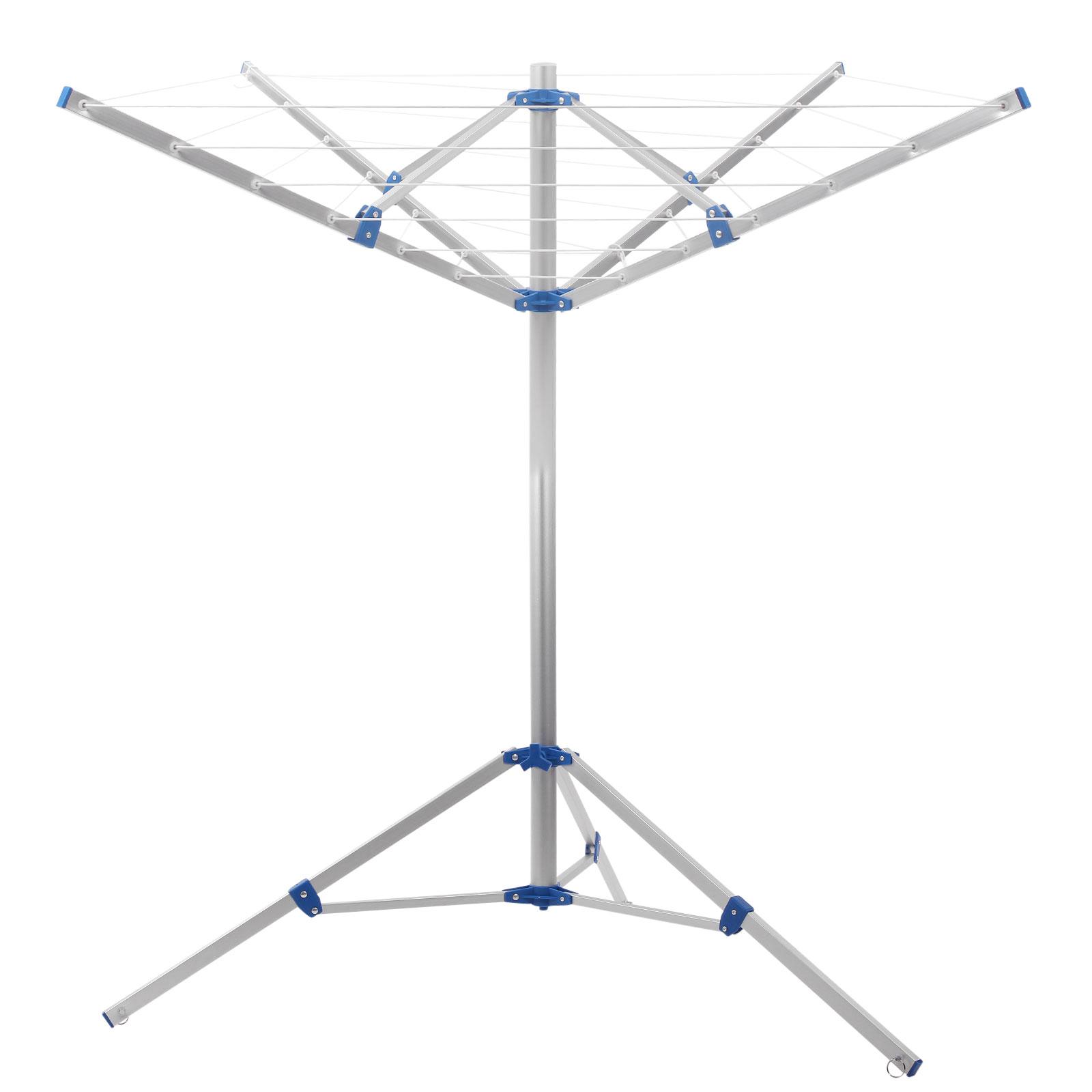 Camping Wäschespinne 15 Meter Leine, Spannweite 152 cm , Höhe 150 cm,Tragetasche