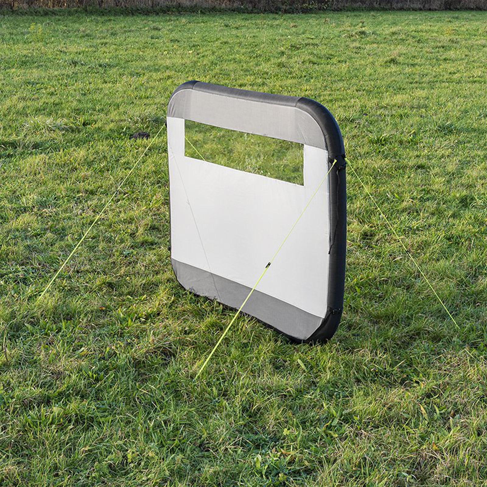 Windschutz Windbarikade aufblasbar | 150D Polyester | 160x140 cm | grau