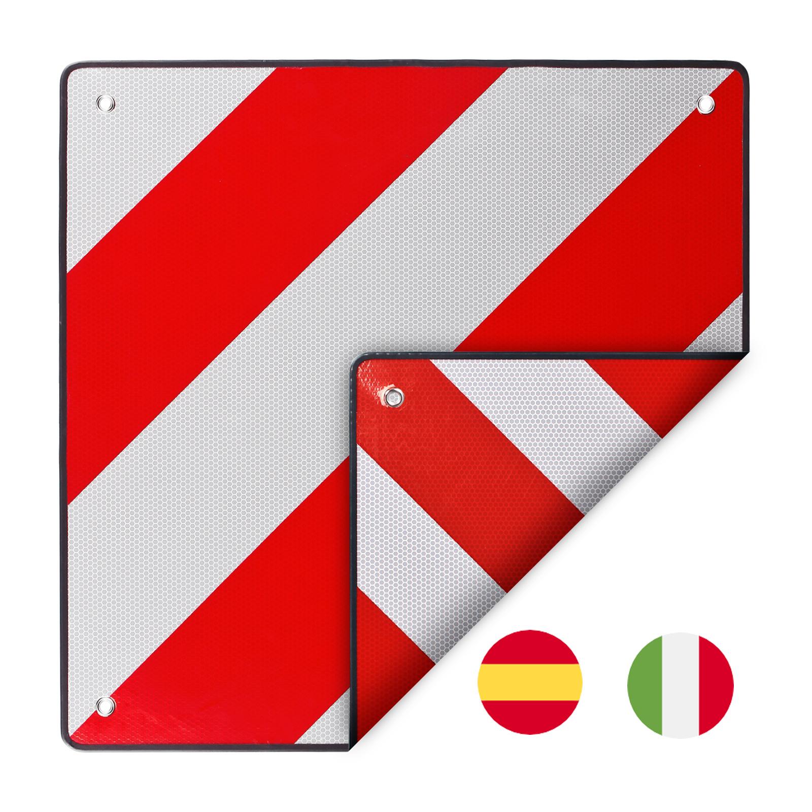 Warntafel zum wenden für Italien/Spanien Aluminium