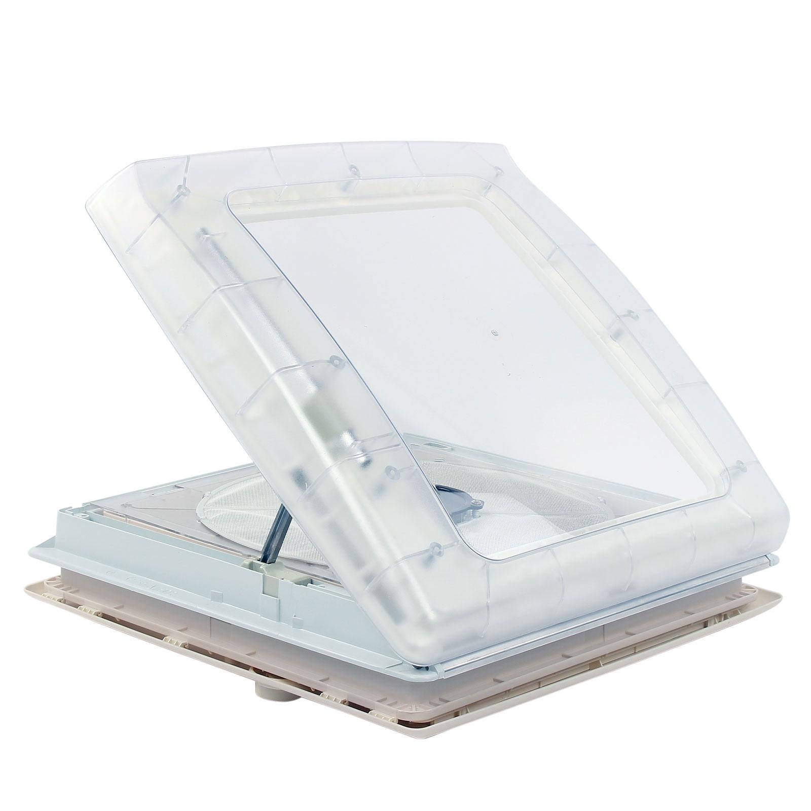Thule  Kurbeldachhaube Omni-Vent transparent 40x40 12 Volt Ventilator