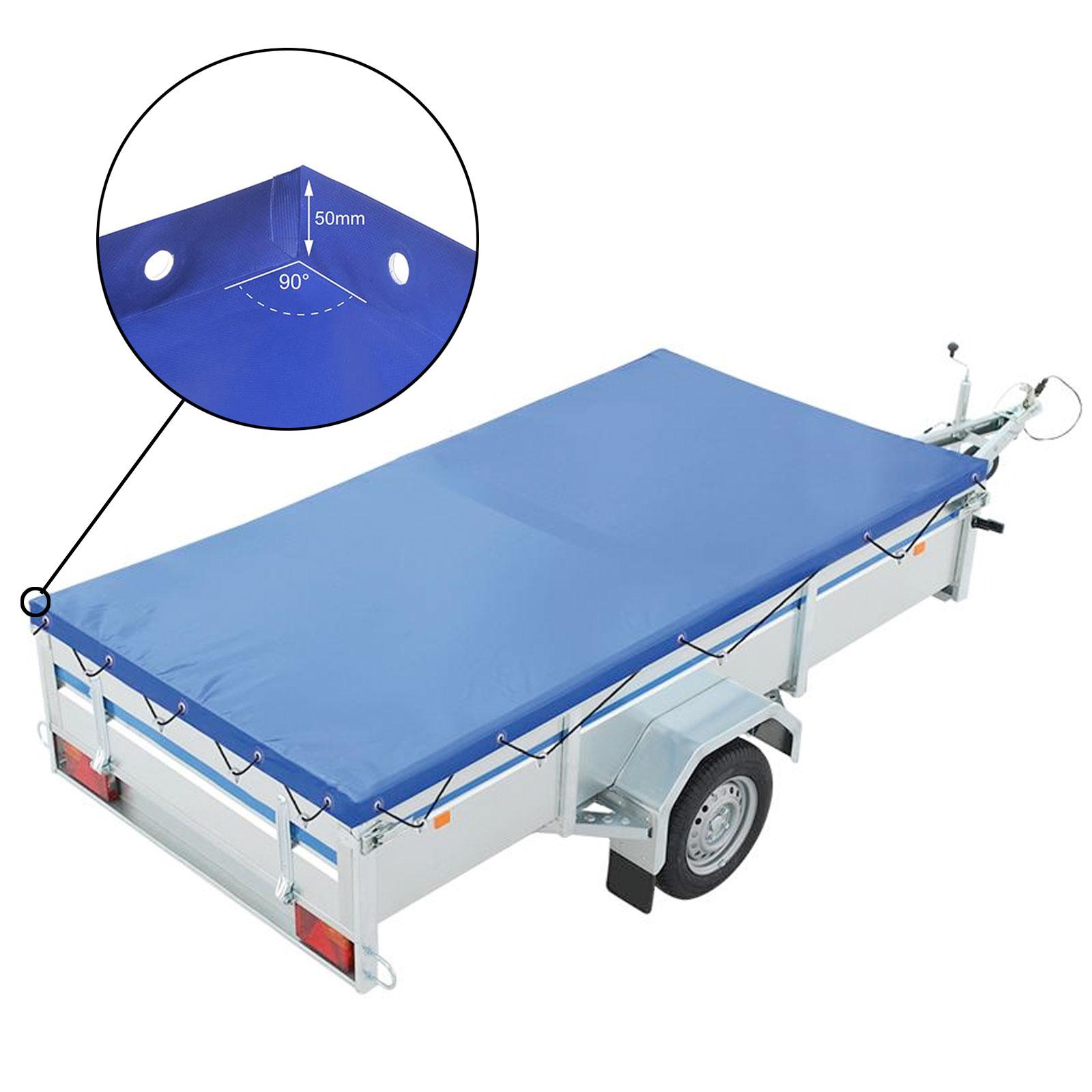 Anhänger Flachplane Blau mit Gummigurt 2575x1345x50 mm