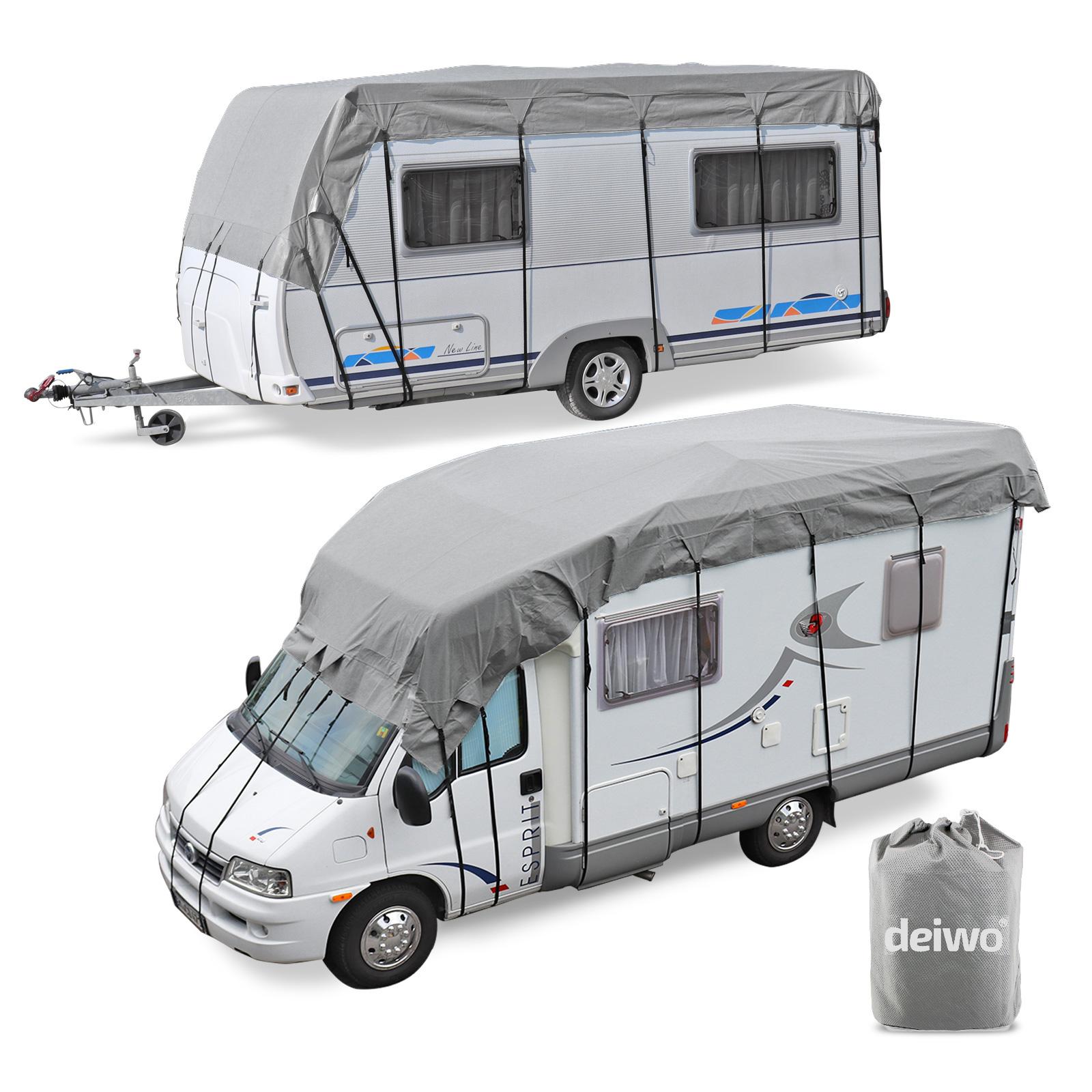 Wohnwagen Wohnmobil Reisemobil Schutzdach Dachschutzplane Schutzhülle 10x3 m