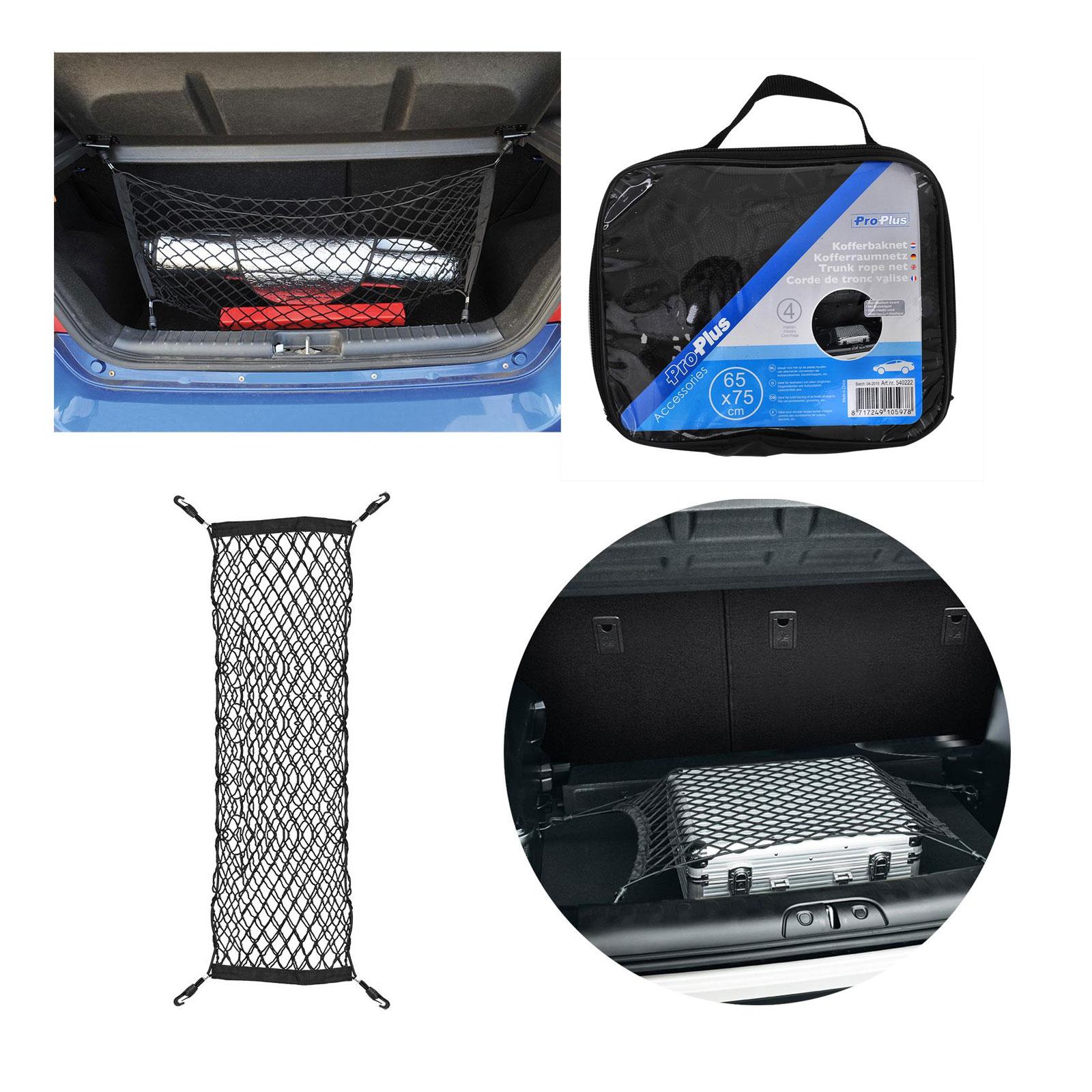 ProPlus Kofferraumnetz 65x75 cm mit 4 Haken inkl Tragetasche