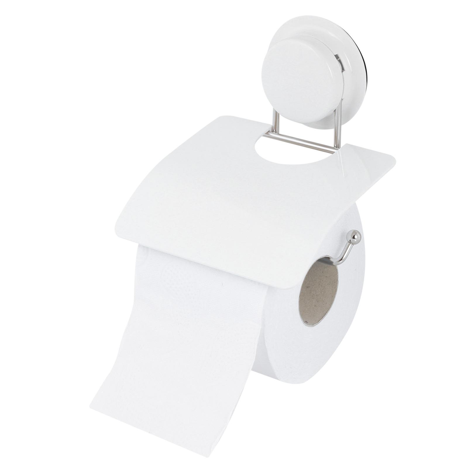 alpina  Toilettenpapierhalter ohne bohren Edelstahl 5Kg belastbar weiß