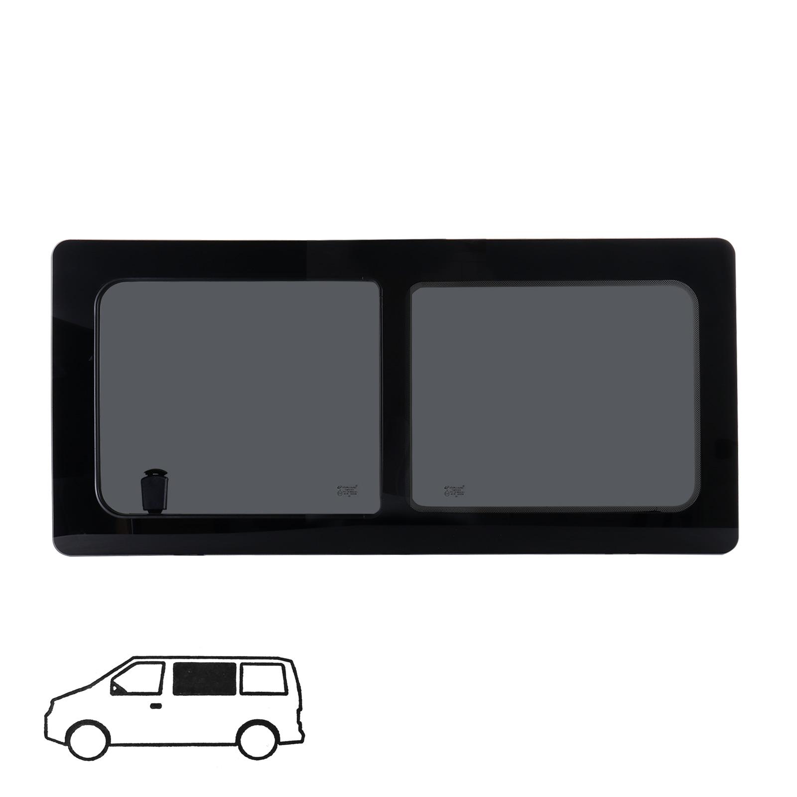 Schiebefenster links Glasfenster für VW T4 Echtglas 113 x 53 cm Bj. 90-04