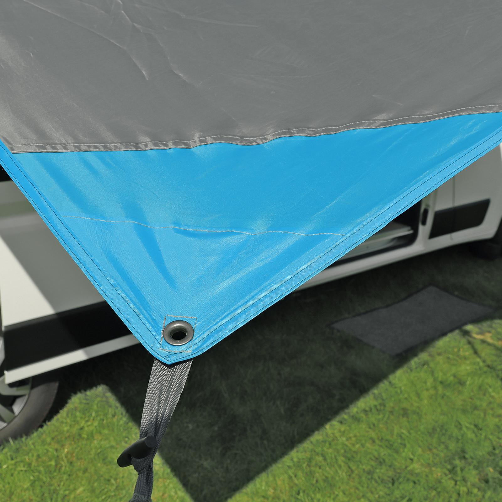 deiwo Essential Sonnensegel 4,50 x 2,4 m Wassersäule 2000mm Grau
