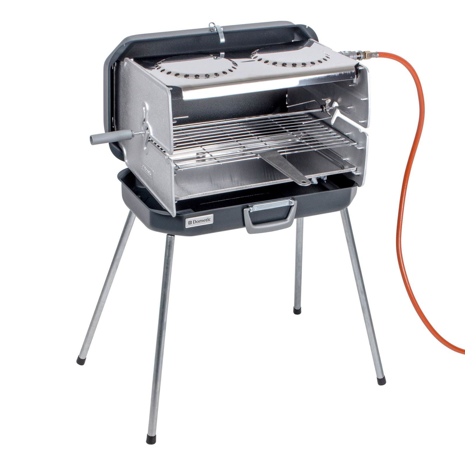 Dometic Koffer Gasgrill Classic 2, 30 mbar, 4,3 KW, Edelstahl, inkl Schlauch