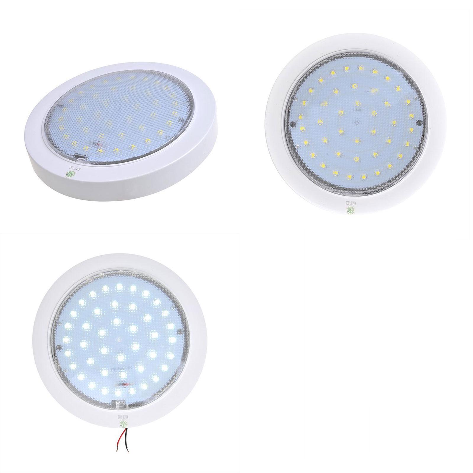 Deckenleuchte 42 LEDs 840lm, 12V-8,5W, Ø220x50mm