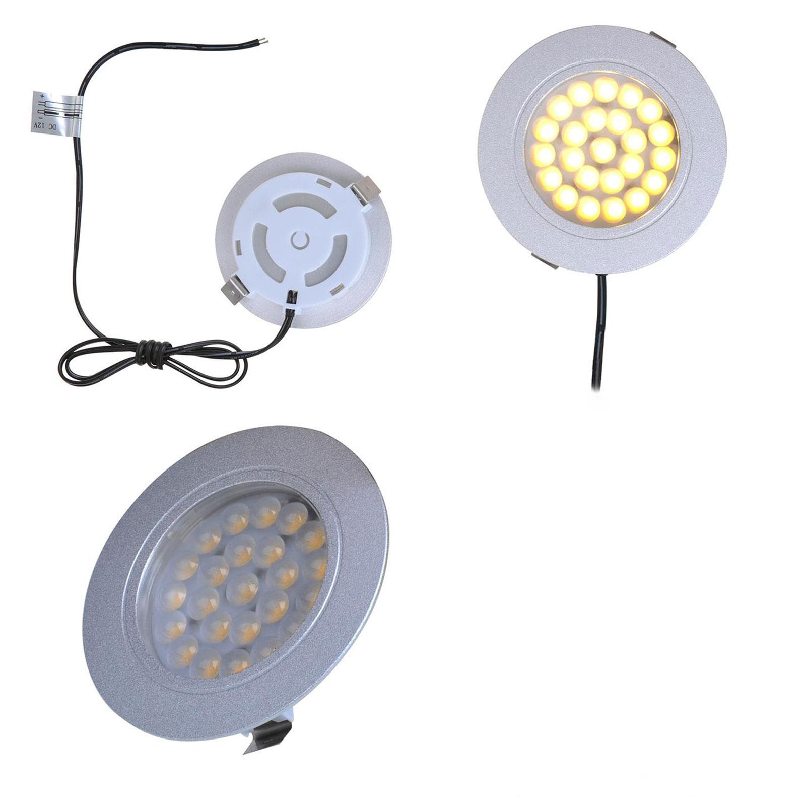 Einbauspot 24 LED-Deckenleuchte 12v, 220lm, Ø65x11mm