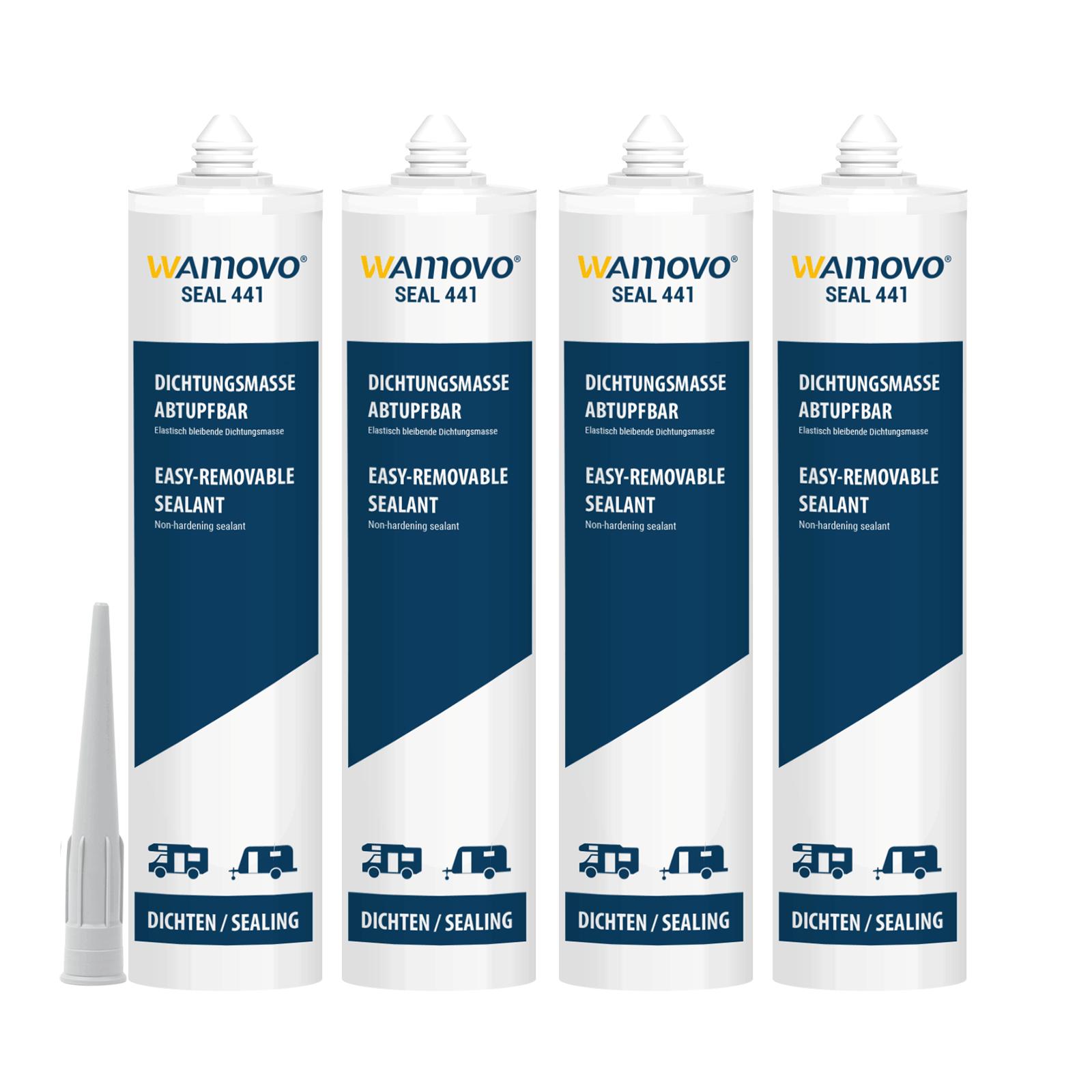 wamovo  Dichtstoff SEAL441 | 1240 ml | abtupfbar | Grau| Dichtmasse