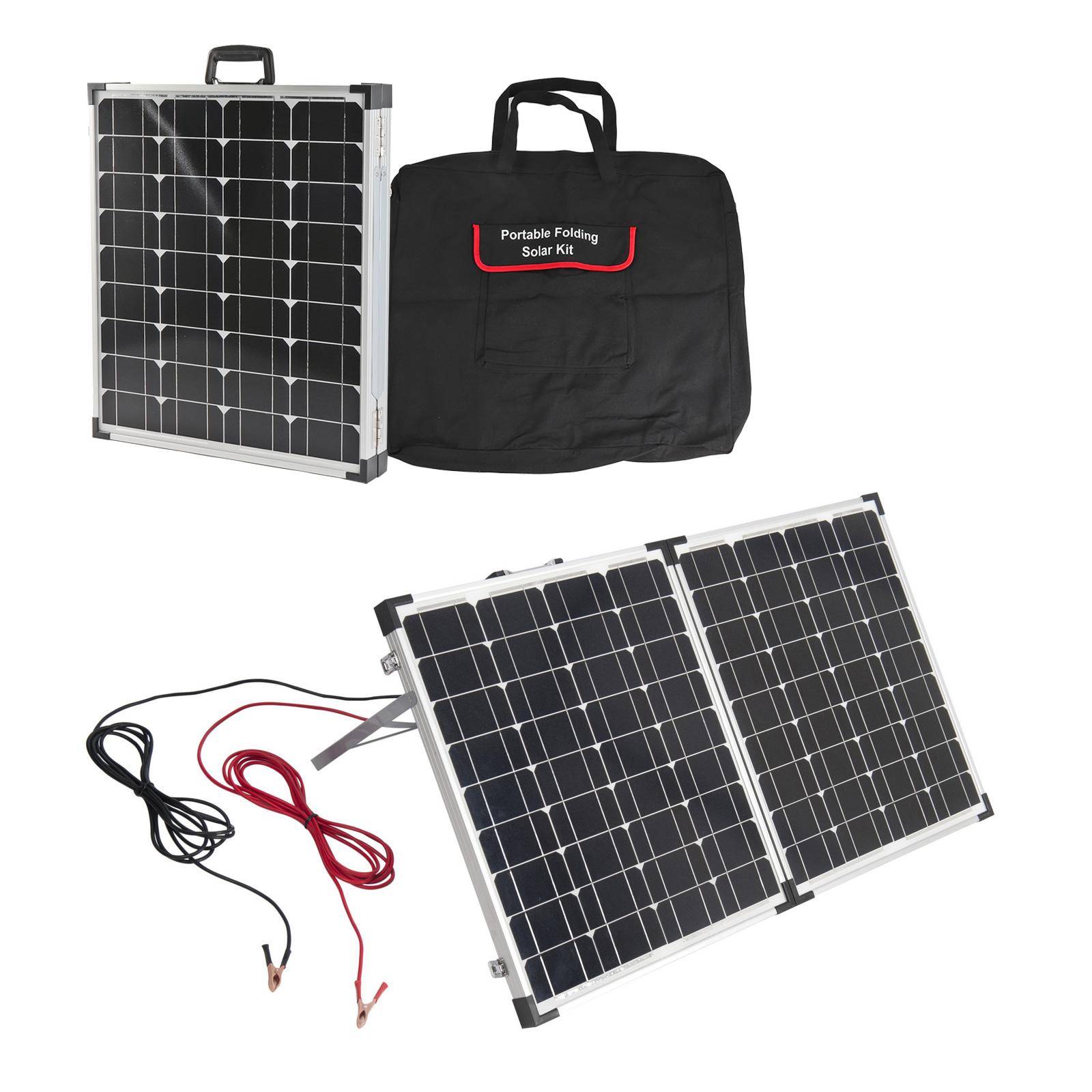 Mobiles Solar Panel Set 100W   Tragetasche   klappbar   anschlussfertig  Regler