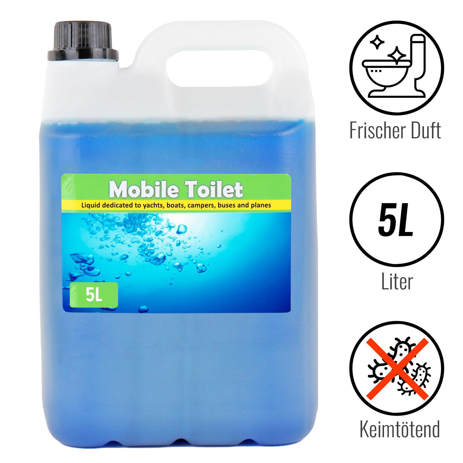 Toilettenzusatz 5 L, Sanitärkonzentrat, Toiletten Abwasser, keimtötend