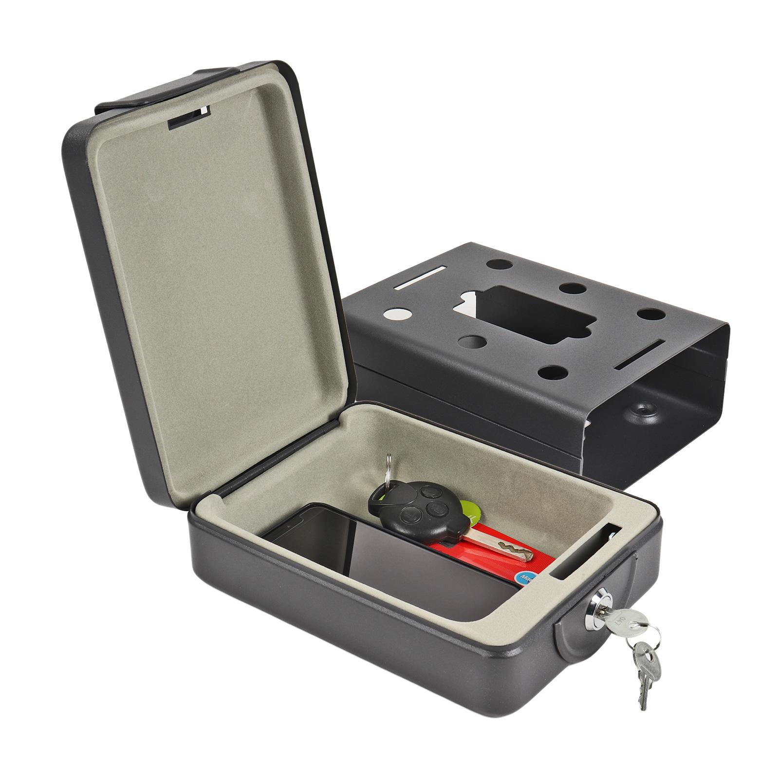 Mobilsafe Stahlsafe  | 1,7Kg  | inkl Halterung  | 2 Schlüssel  | Safe