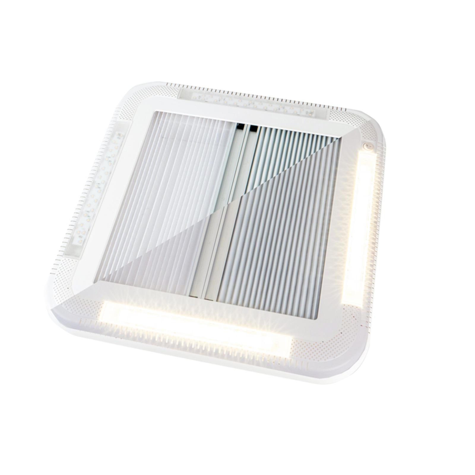 Carbest Dachhaube 452x402 mm mit Zwangsbelüftung und LEDs Caravan Wohnmobil