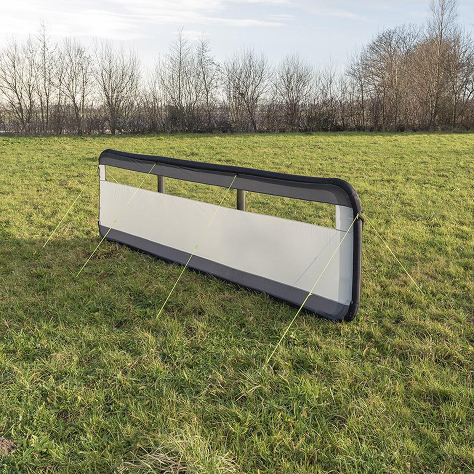 Windschutz Windbarikade aufblasbar | 150D Polyester | 480x140 cm | grau