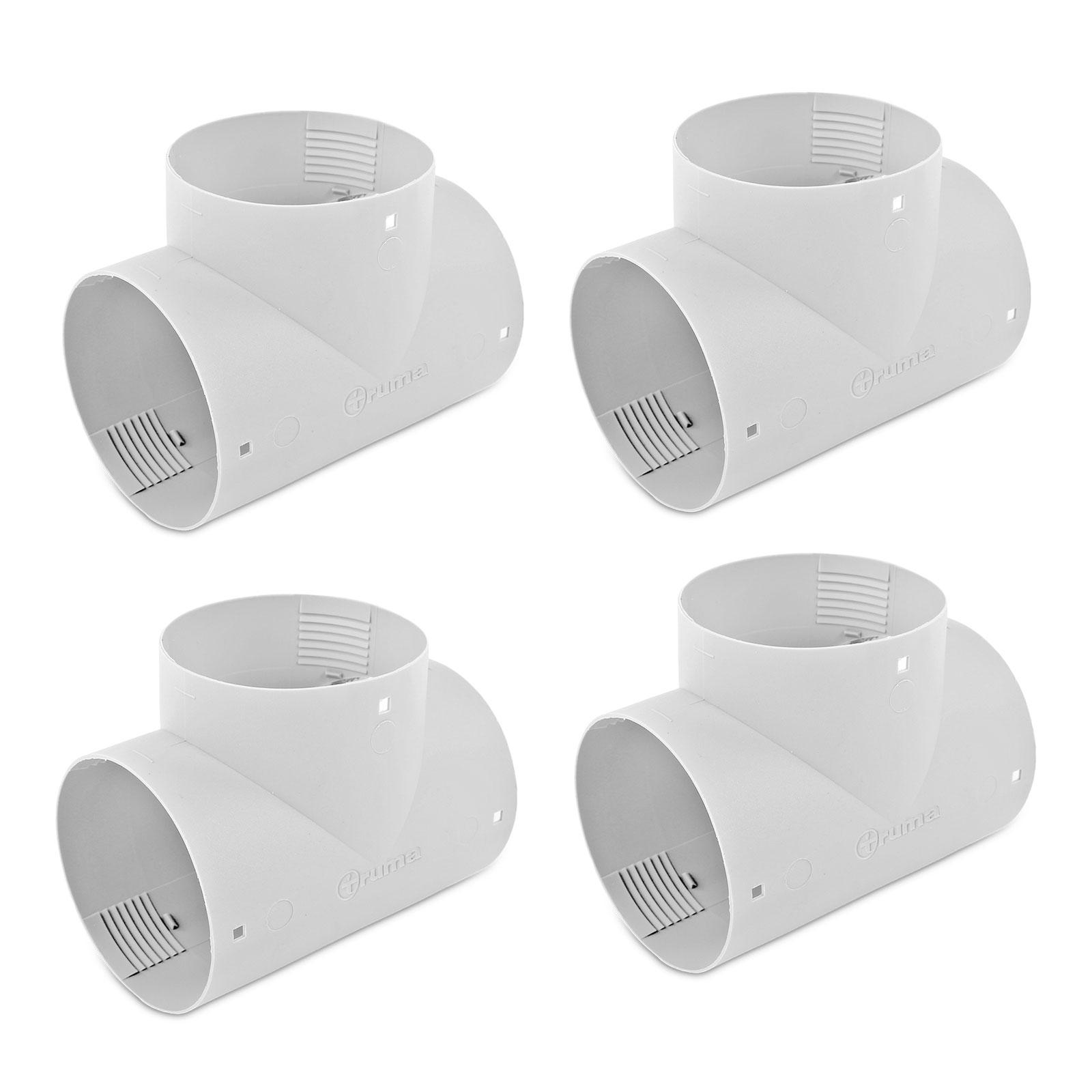 4x T Stück für Warmluftrohre Truma Grau für 65 mm TS T-Stück