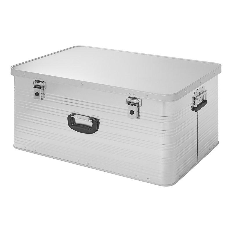 Transportbox Aluminiumbox stapelbar 137 l Werkezugkiste Stauraum + Aufbewahrung