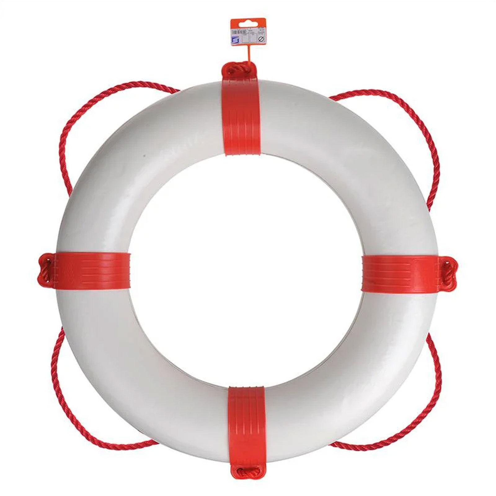 Bootsring Bootsdeko Schiffsdeko Deko für Yacht Ø550mm weiß/rot