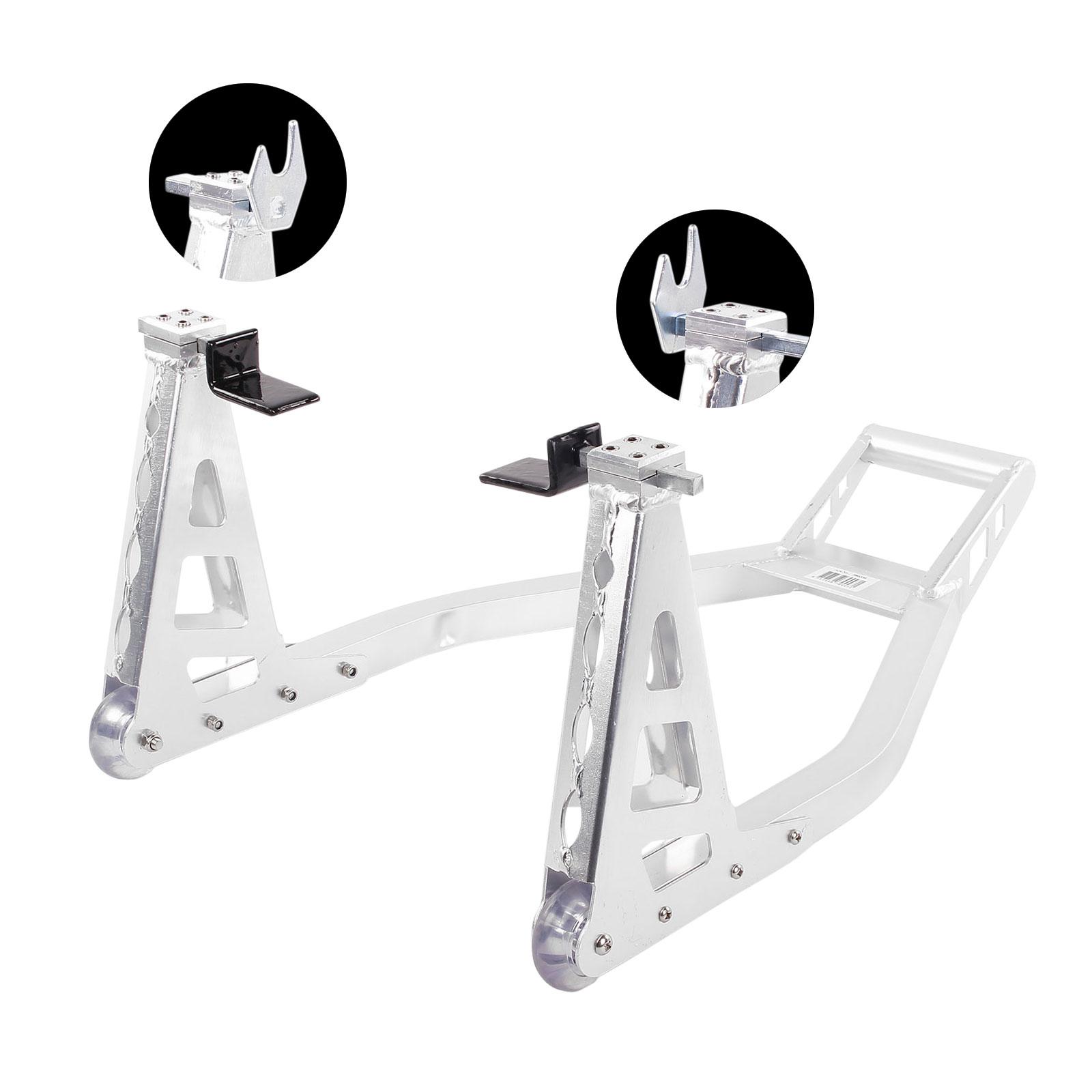 Motorrad Ständer Hinten Aluminium verstellbar extra leicht 2 Adapter